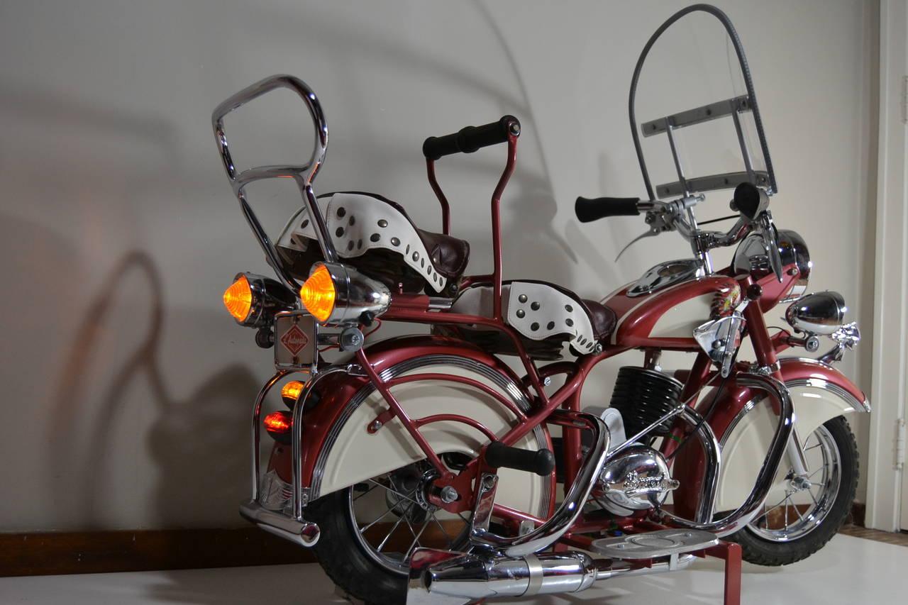 Belgian 1950s Carousel Indian Motorbike by Lenaerts, Belgium  For Sale
