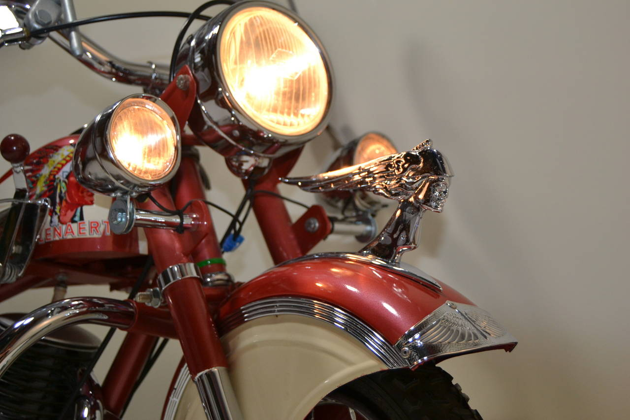 Industrial 1950s Carousel Indian Motorbike by Lenaerts, Belgium  For Sale