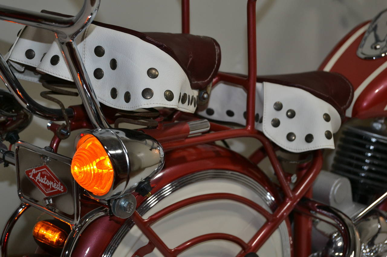 Hand-Crafted 1950s Carousel Indian Motorbike by Lenaerts, Belgium  For Sale