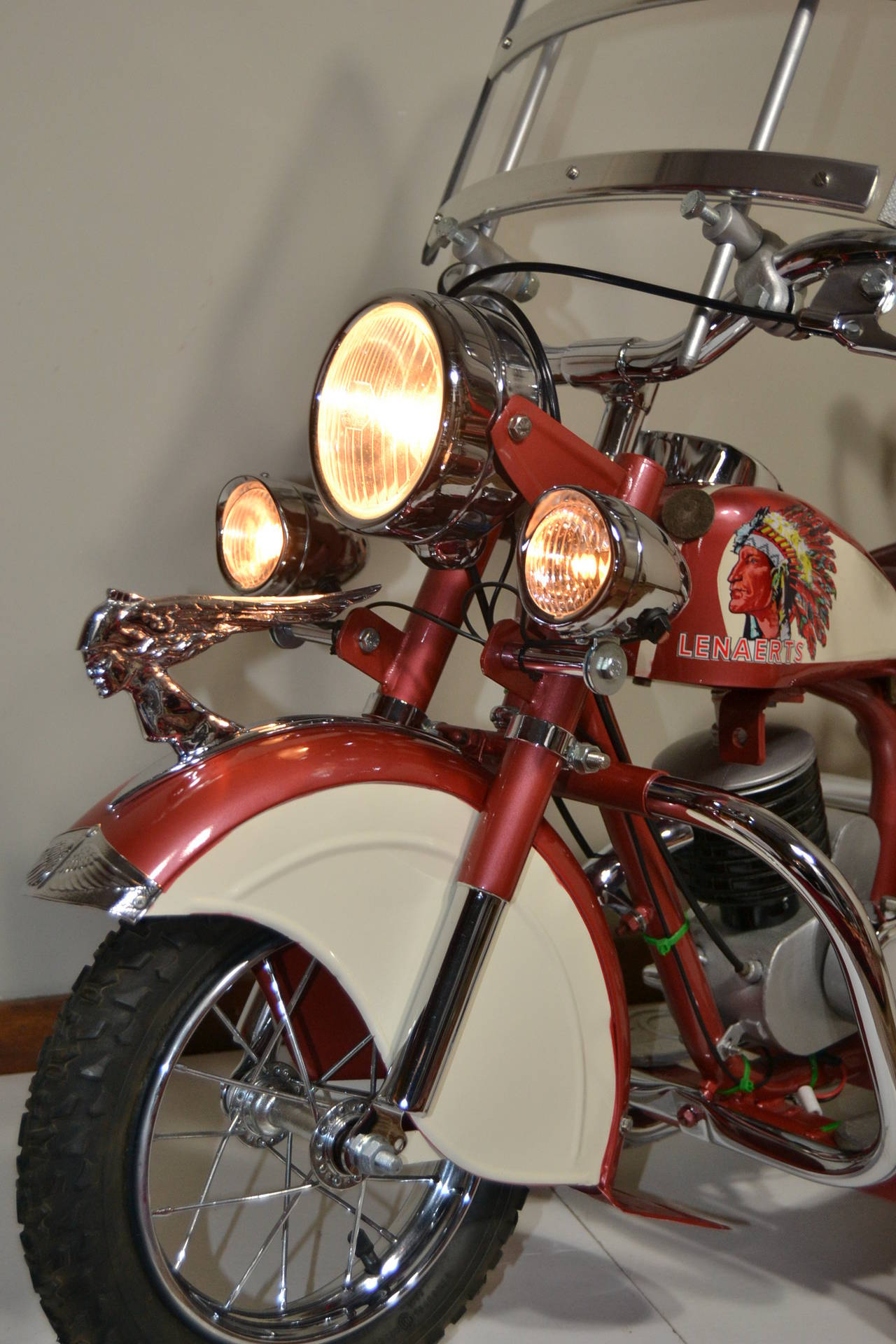 20th Century 1950s Carousel Indian Motorbike by Lenaerts, Belgium  For Sale