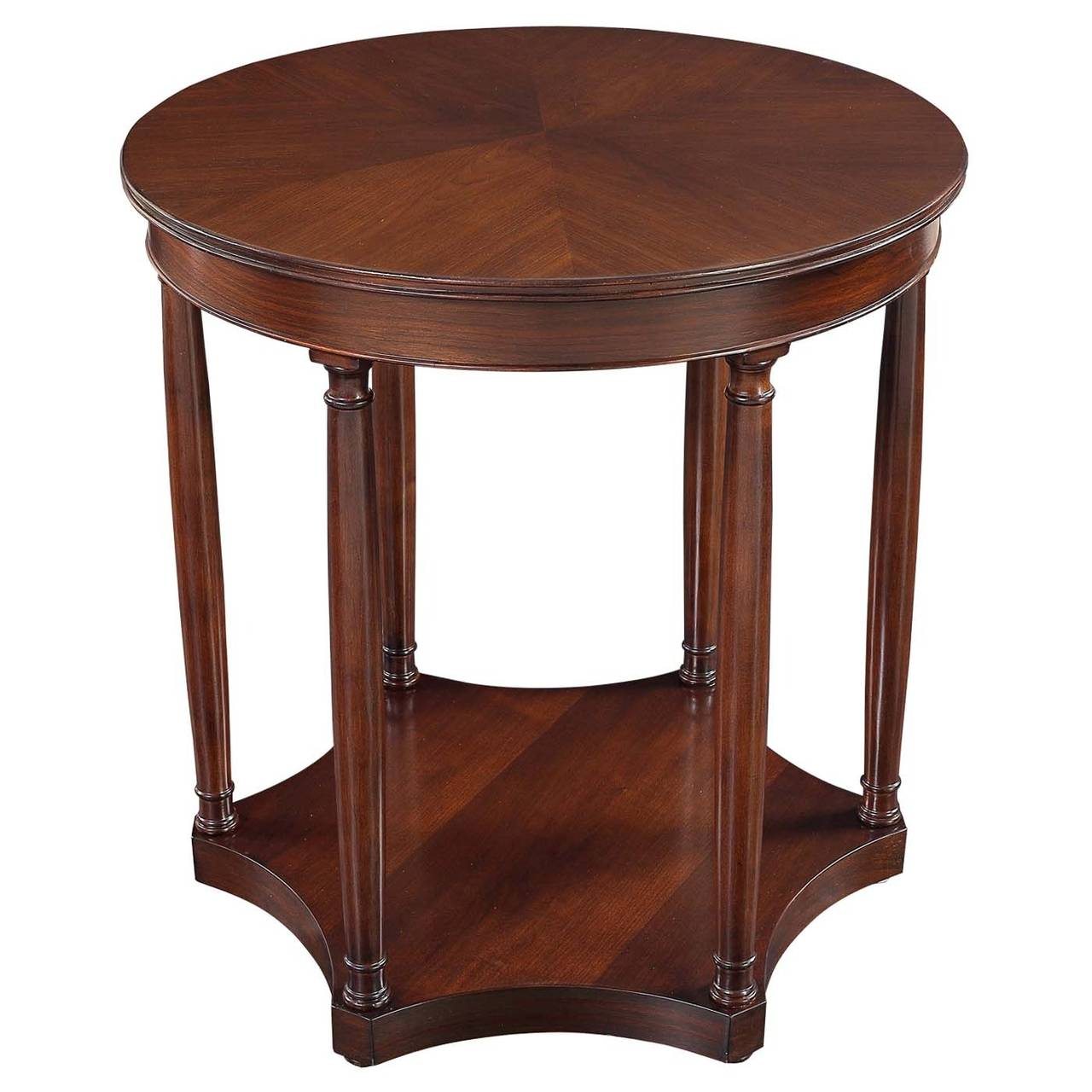 Large column side table in walnut at 1stdibs for Table column