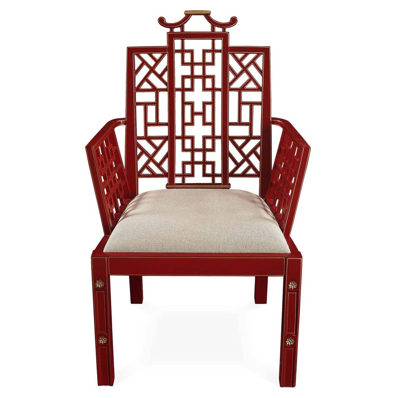 Ming Chinoiserie Red Lacquer Dining Chair For Sale At 1stdibs