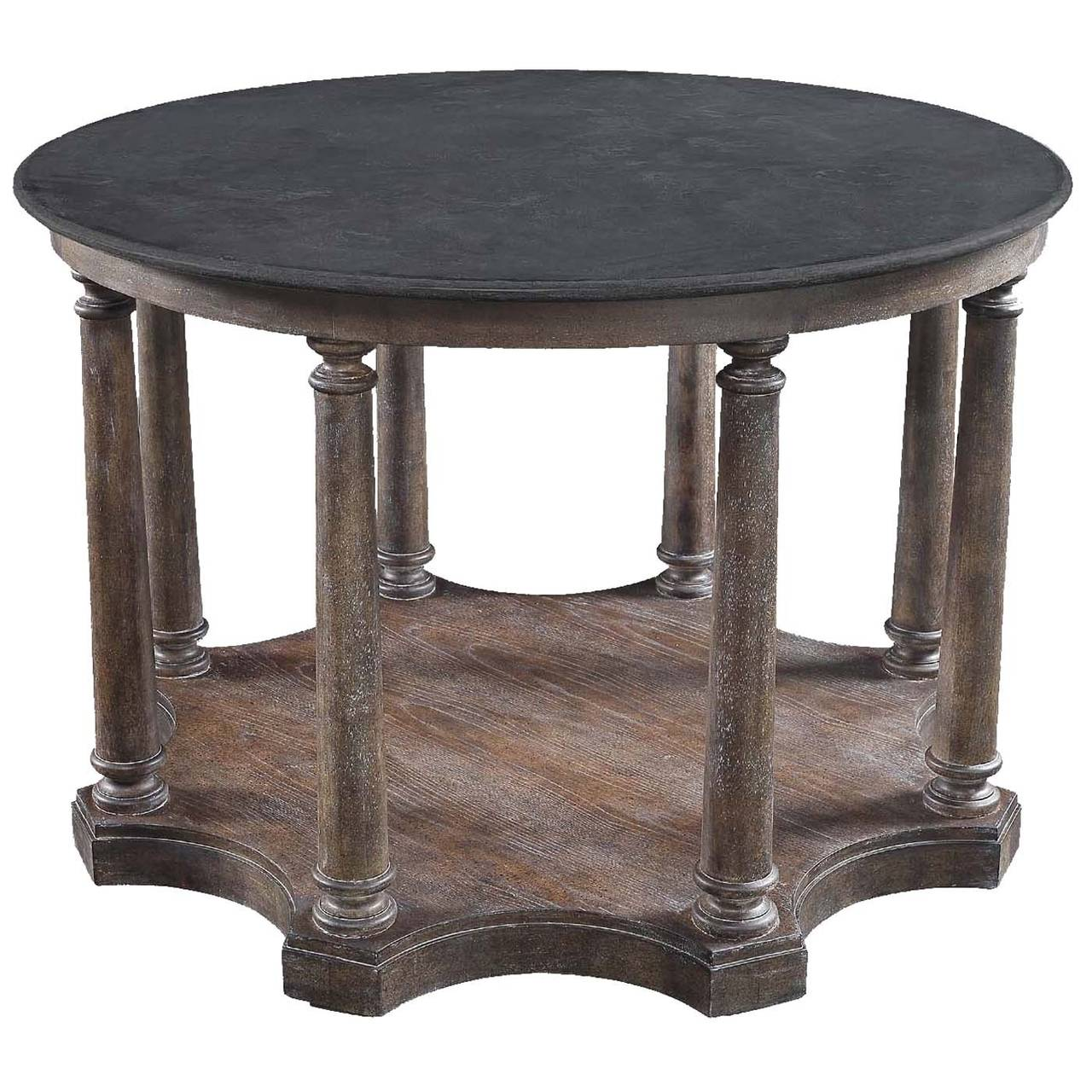 Column centre elmwood table at 1stdibs for Table column