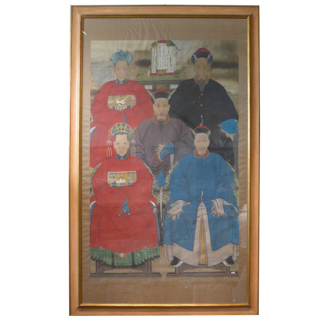 Chinese Ancestor Painting Late Qing Dynasty 19th Century