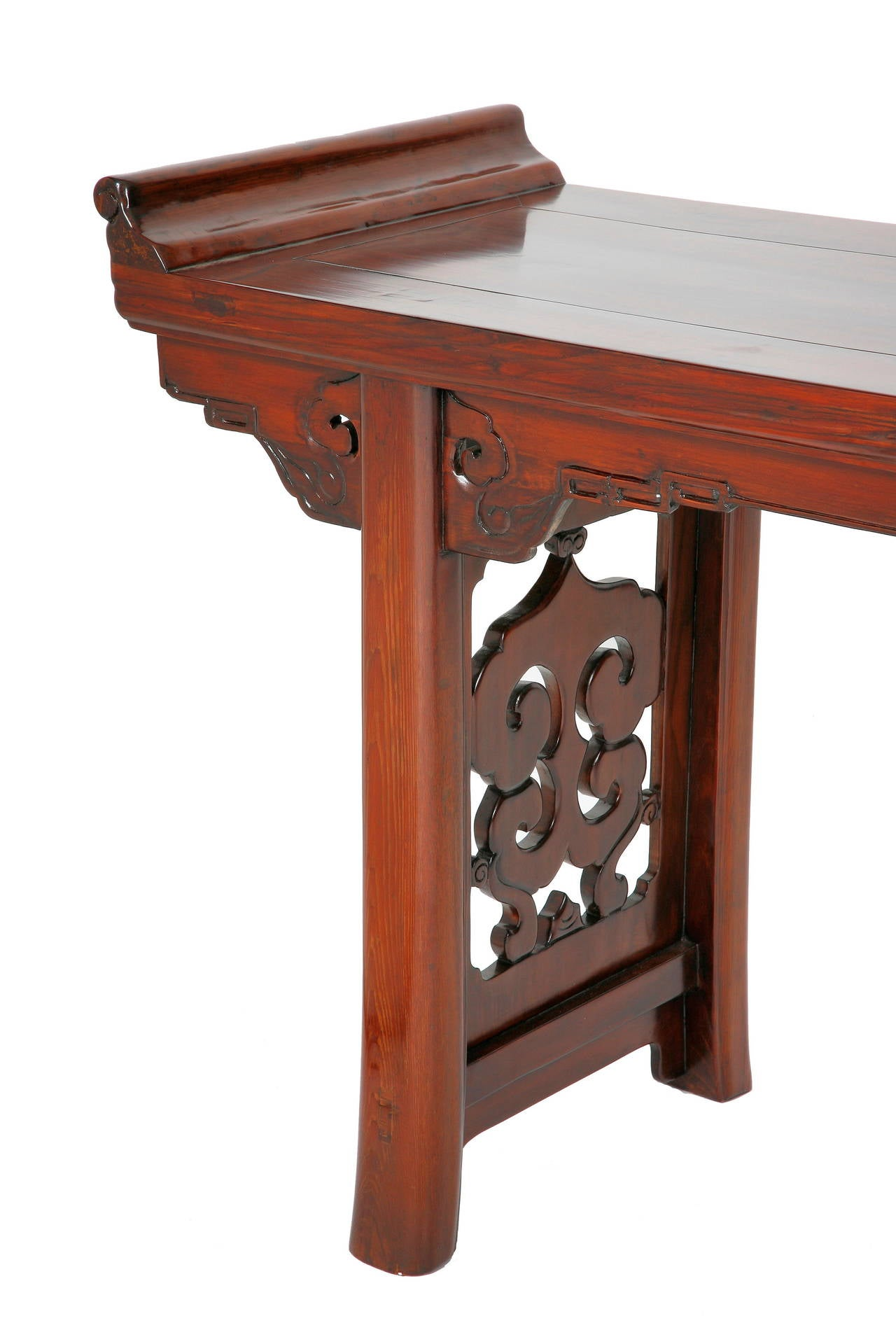Antique 19th c chinese altar table console ruyi open for Antique chinese tables for sale