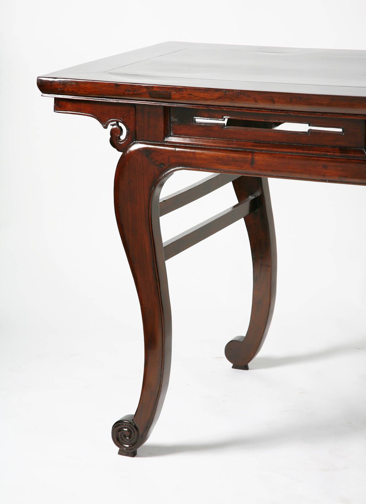 19th Century Chinese Side or Console Table Cabriole Legs
