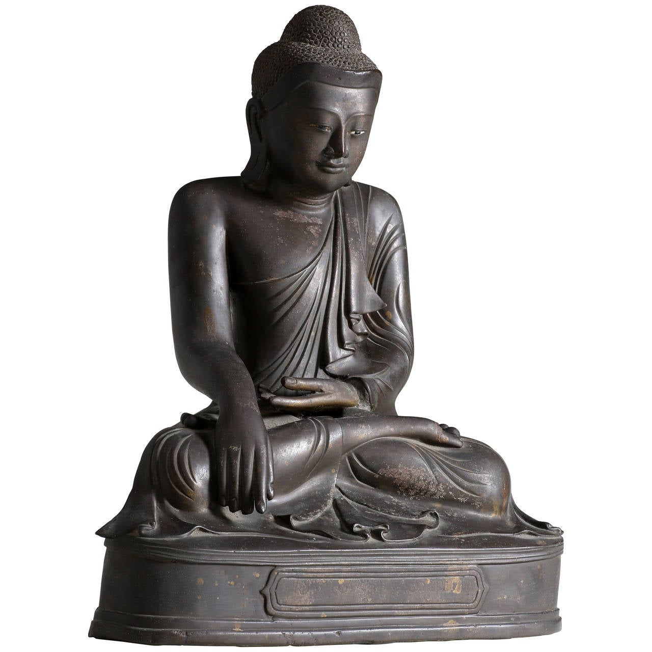 Antique burmese bronze seated buddha sculpture mandalay style at antique burmese bronze seated buddha sculpture mandalay style for sale buycottarizona