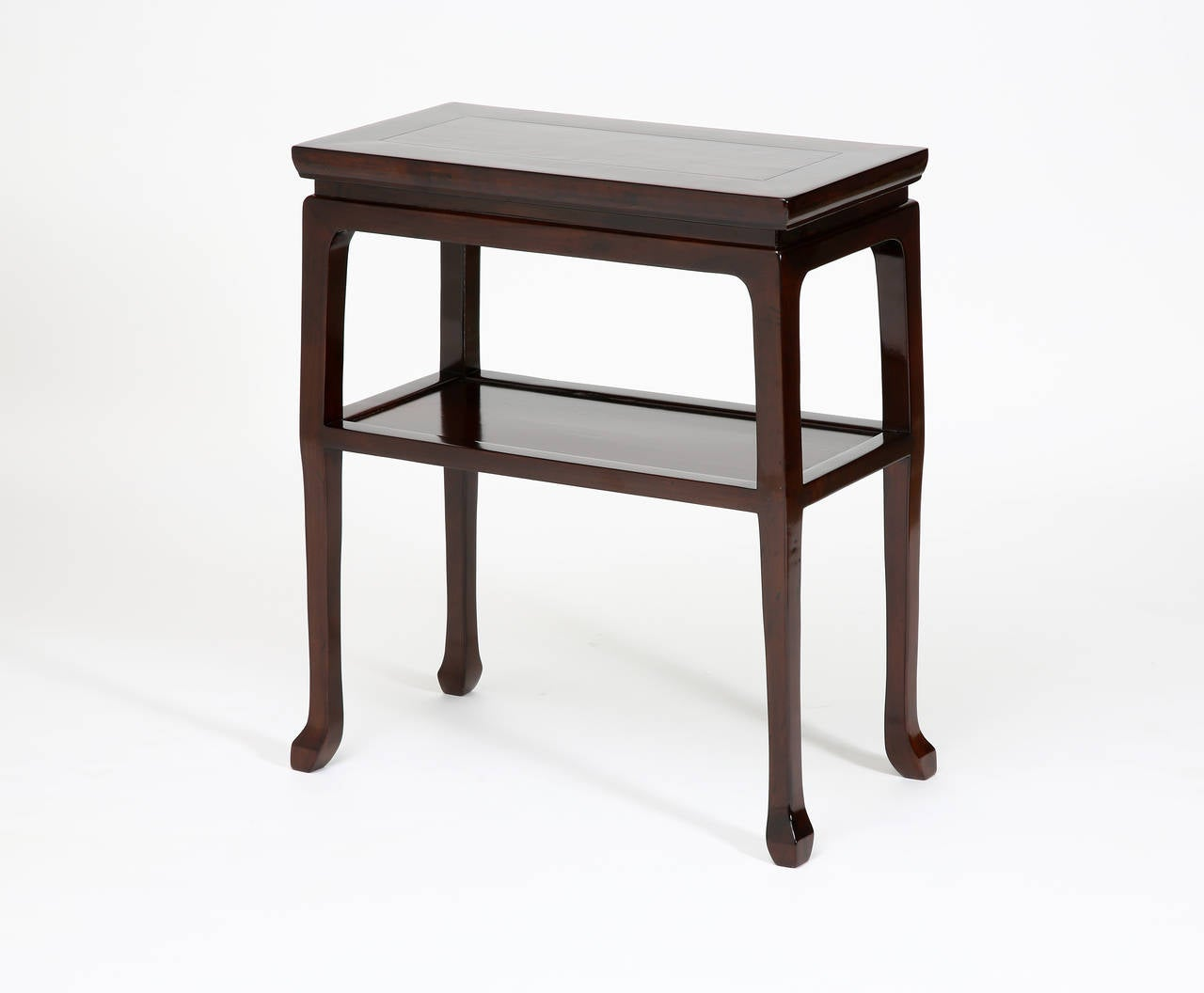 Antique chinese walnut display stand console table with