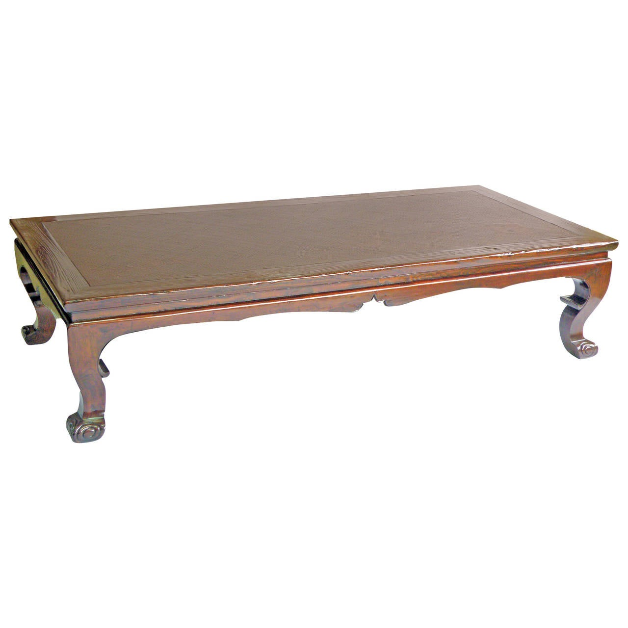 Large antique day bed low table or coffee table with for Large low coffee table