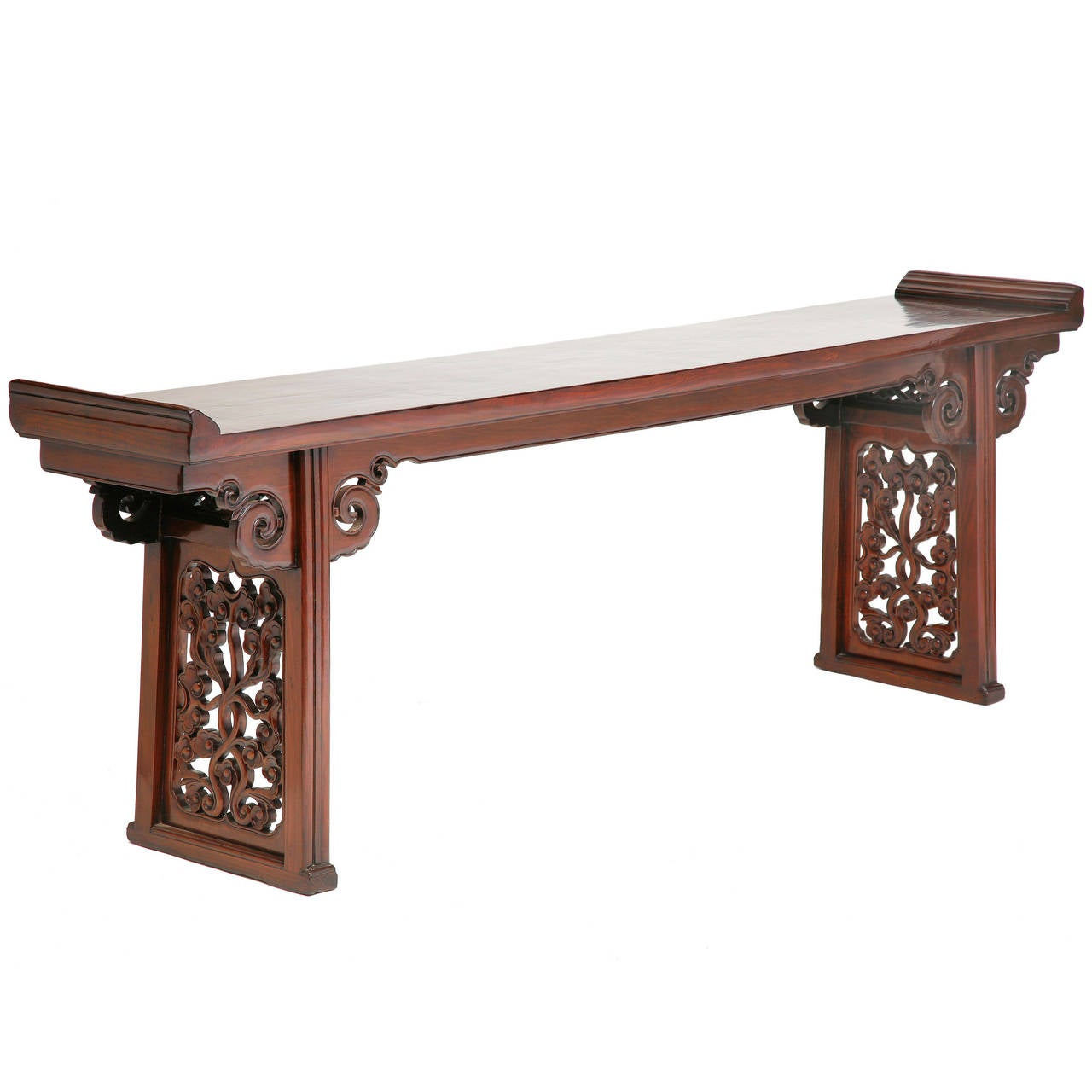 Chinoiserie Altar Table or Console with Everted Flanges in the Ming Style