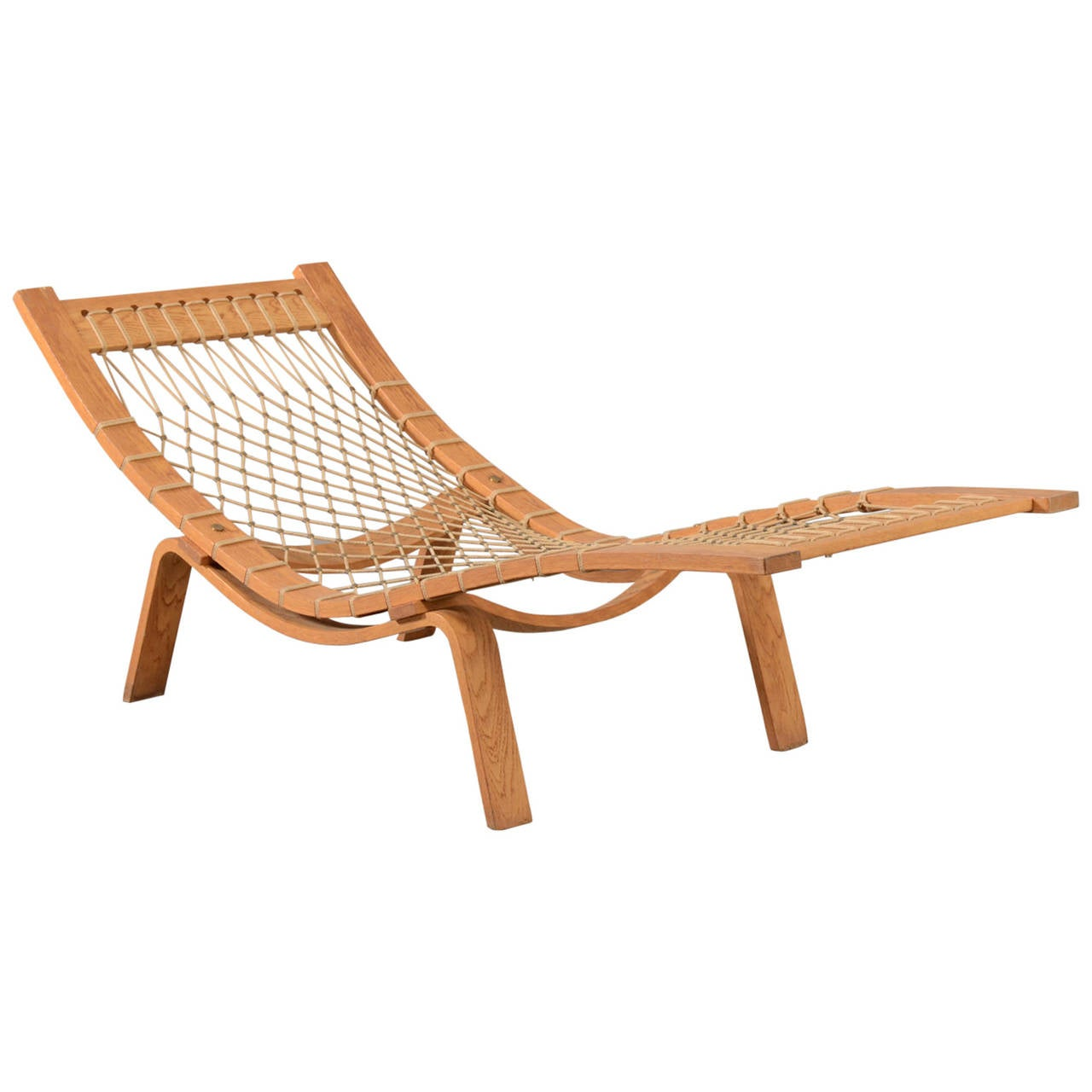 hans j wegner hammock chaise longue for getama for sale at 1stdibs. Black Bedroom Furniture Sets. Home Design Ideas