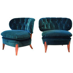 Otto Schulz, Pair of Cocktail Chairs