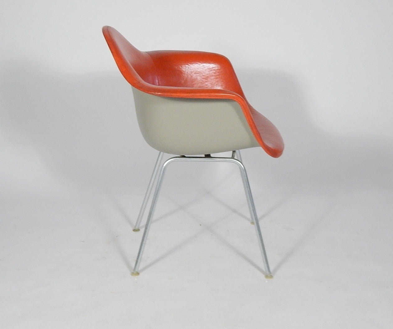 Charles and ray eames naugahyde shell chair for herman miller 1960s at 1stdibs - Herman miller bucket chair ...