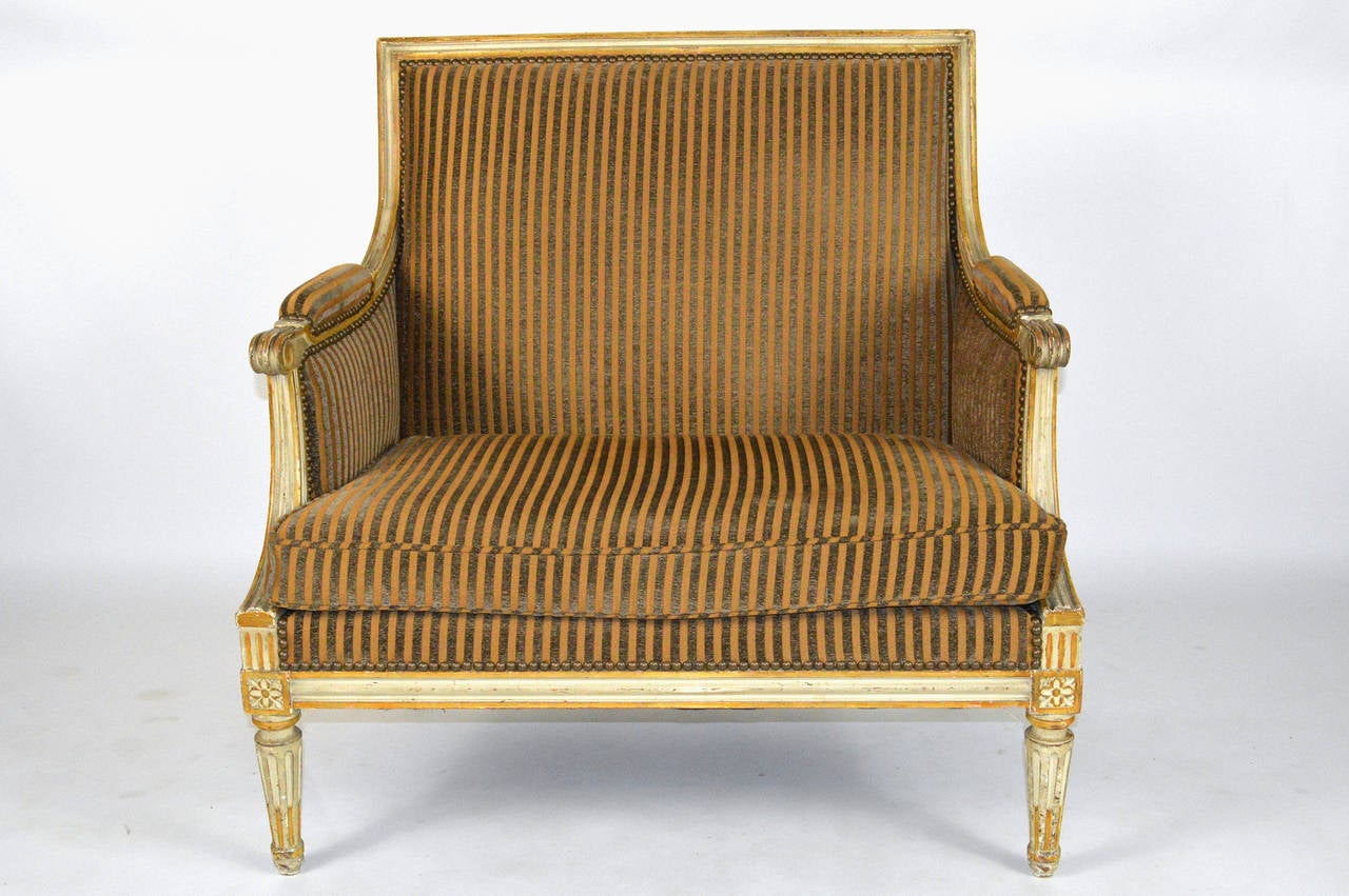 French louis xvi style oversized armchair for sale at 1stdibs for Oversized armchairs for sale