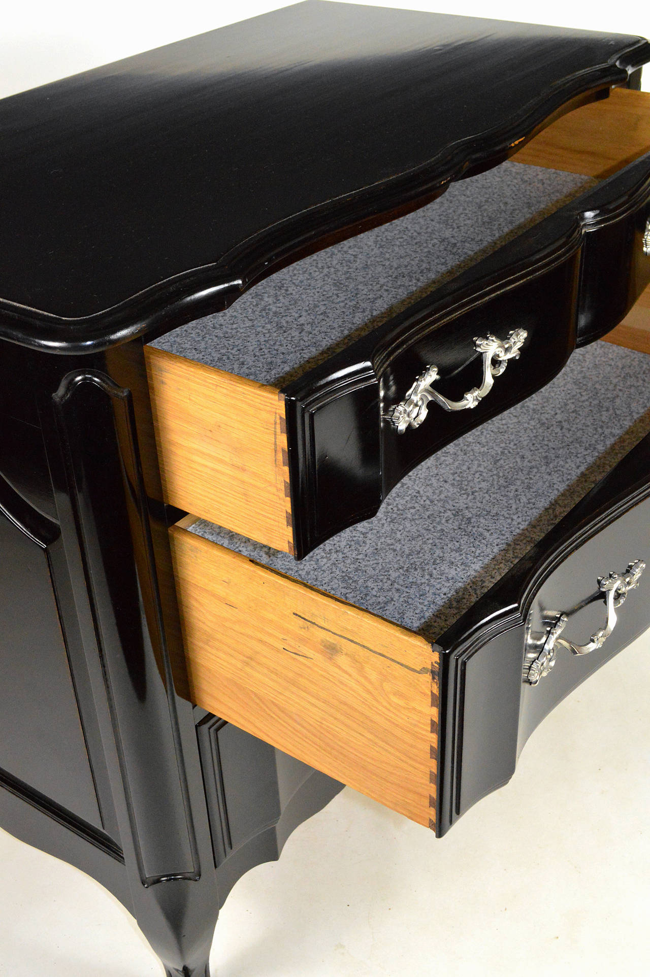 Pair of black lacquered mid 20th century chests for sale for Mid 20th century furniture