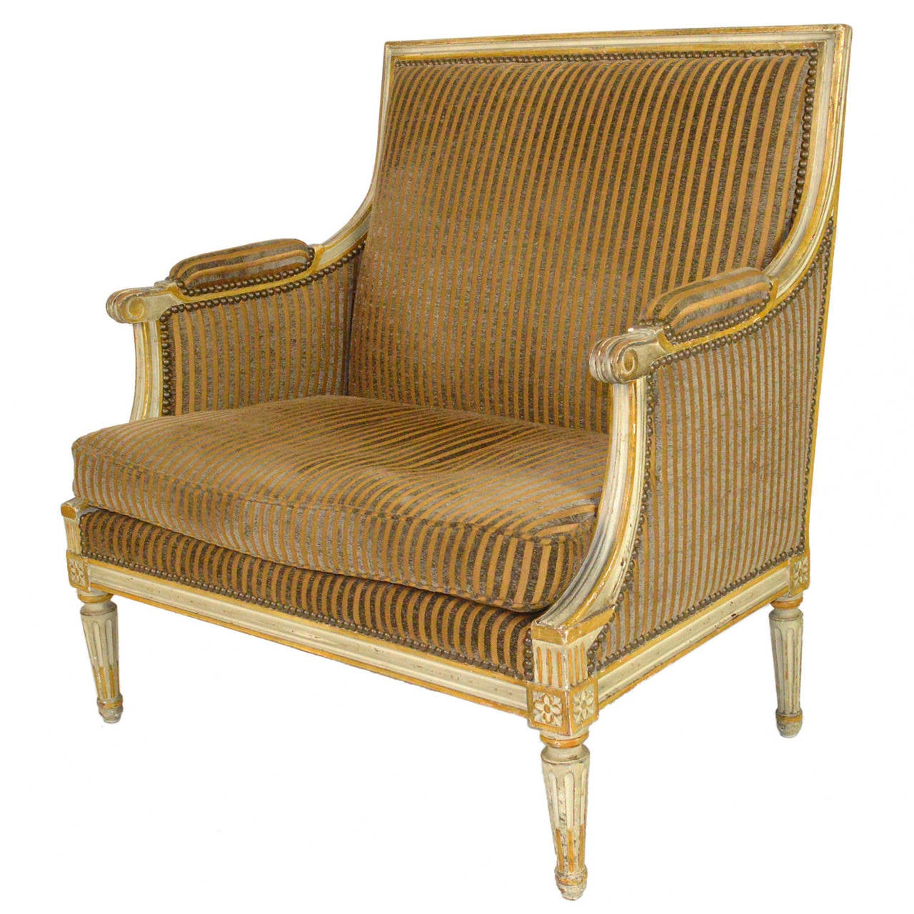 French louis xvi style oversized armchair for sale at 1stdibs for Oversized armchair