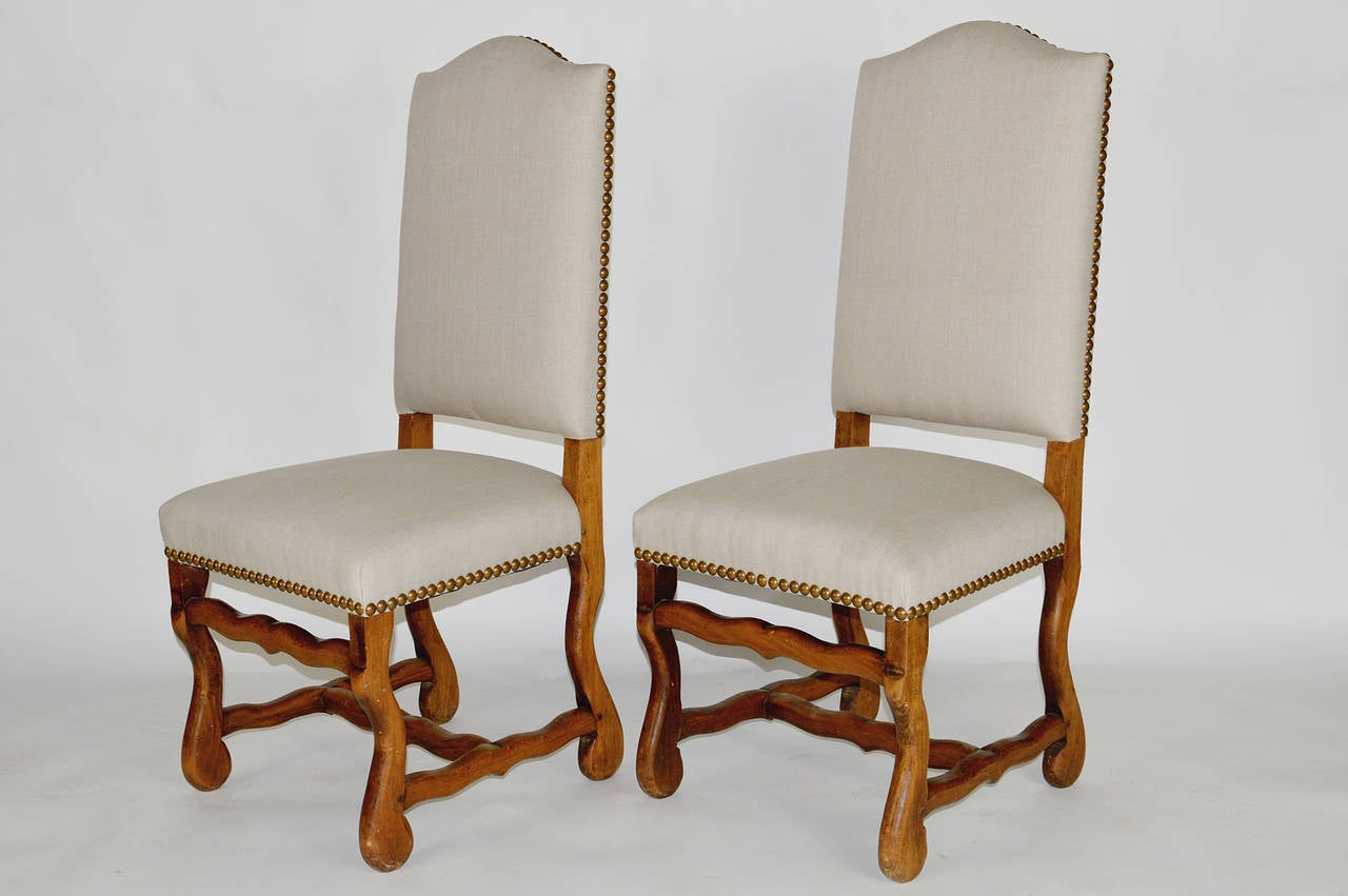 Set Of Six French Louis Xiv Style Dining Chairs At 1stdibs