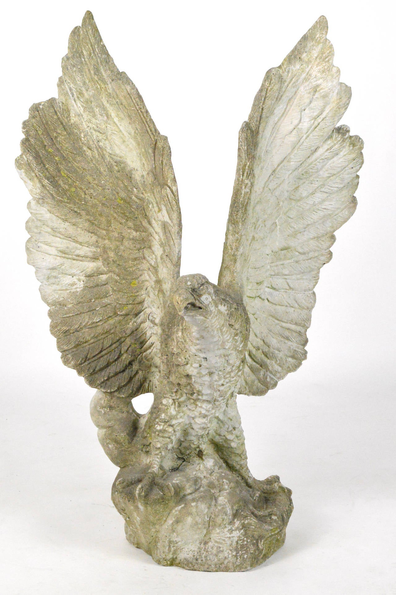 Large-Scale Cast Stone Eagle Garden Statue 2
