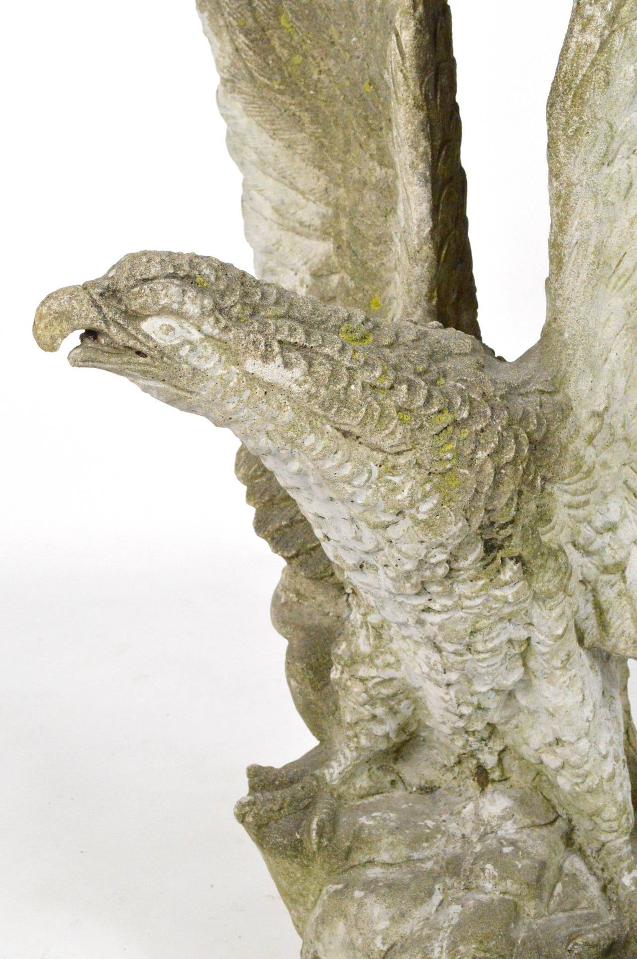 Large-Scale Cast Stone Eagle Garden Statue 5