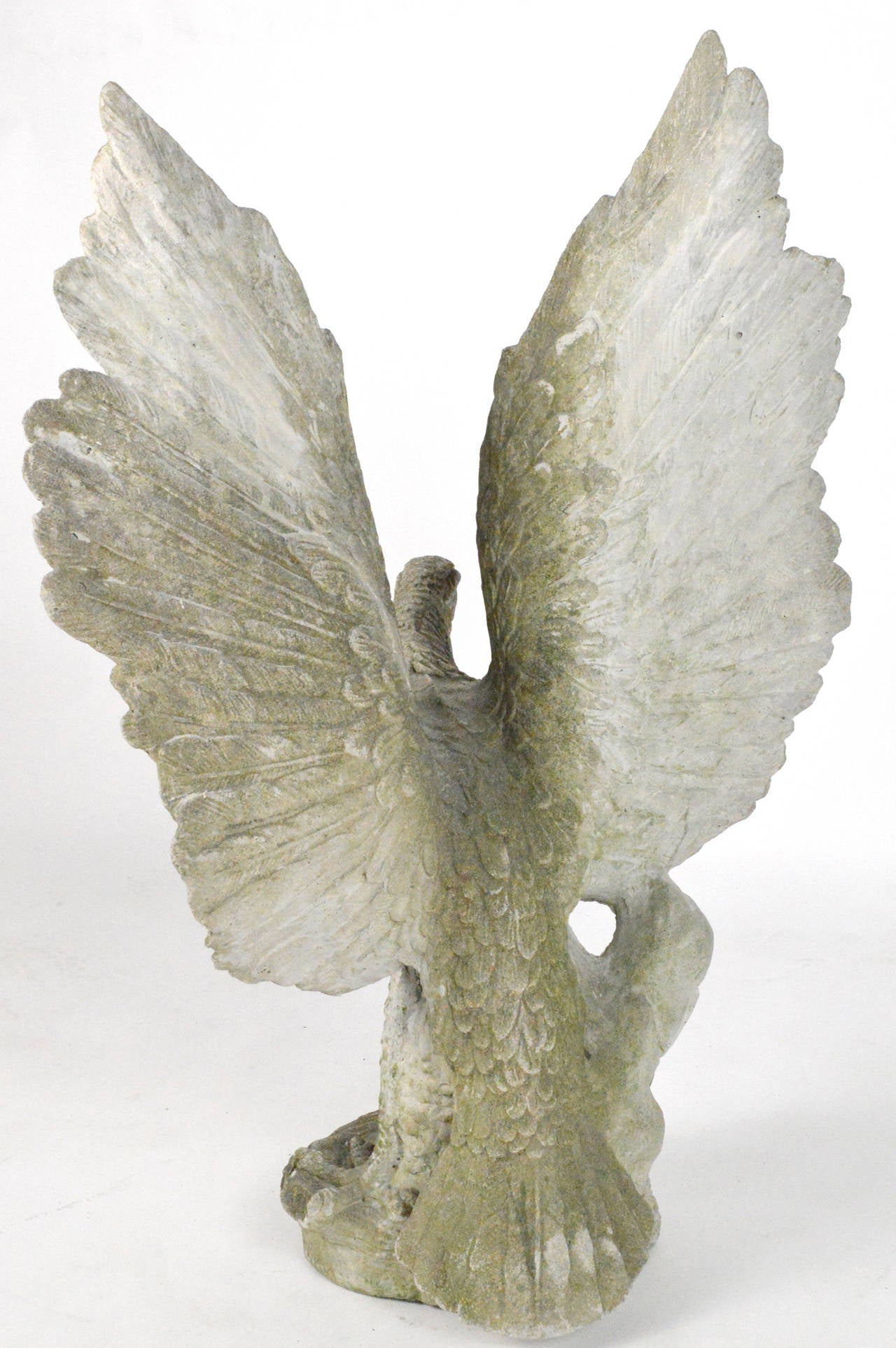 Large-Scale Cast Stone Eagle Garden Statue 9