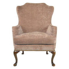 George II Style Walnut Wing Chair