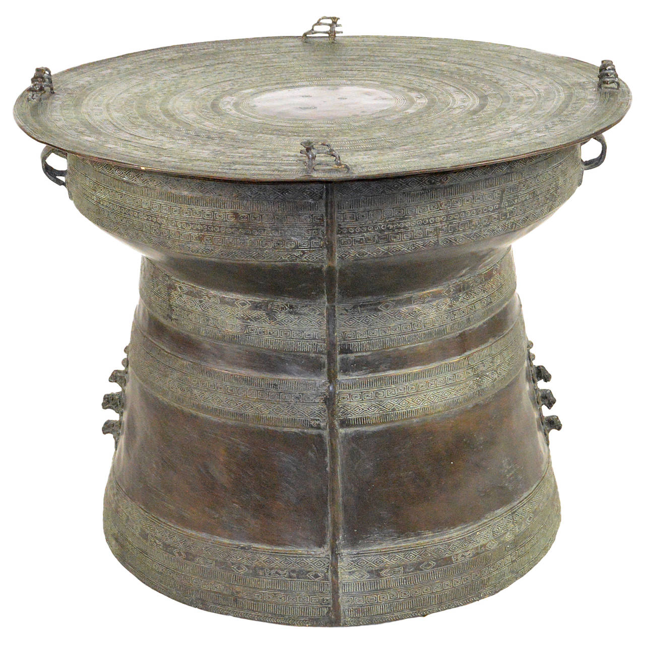 bronze rain drum side table at 1stdibs