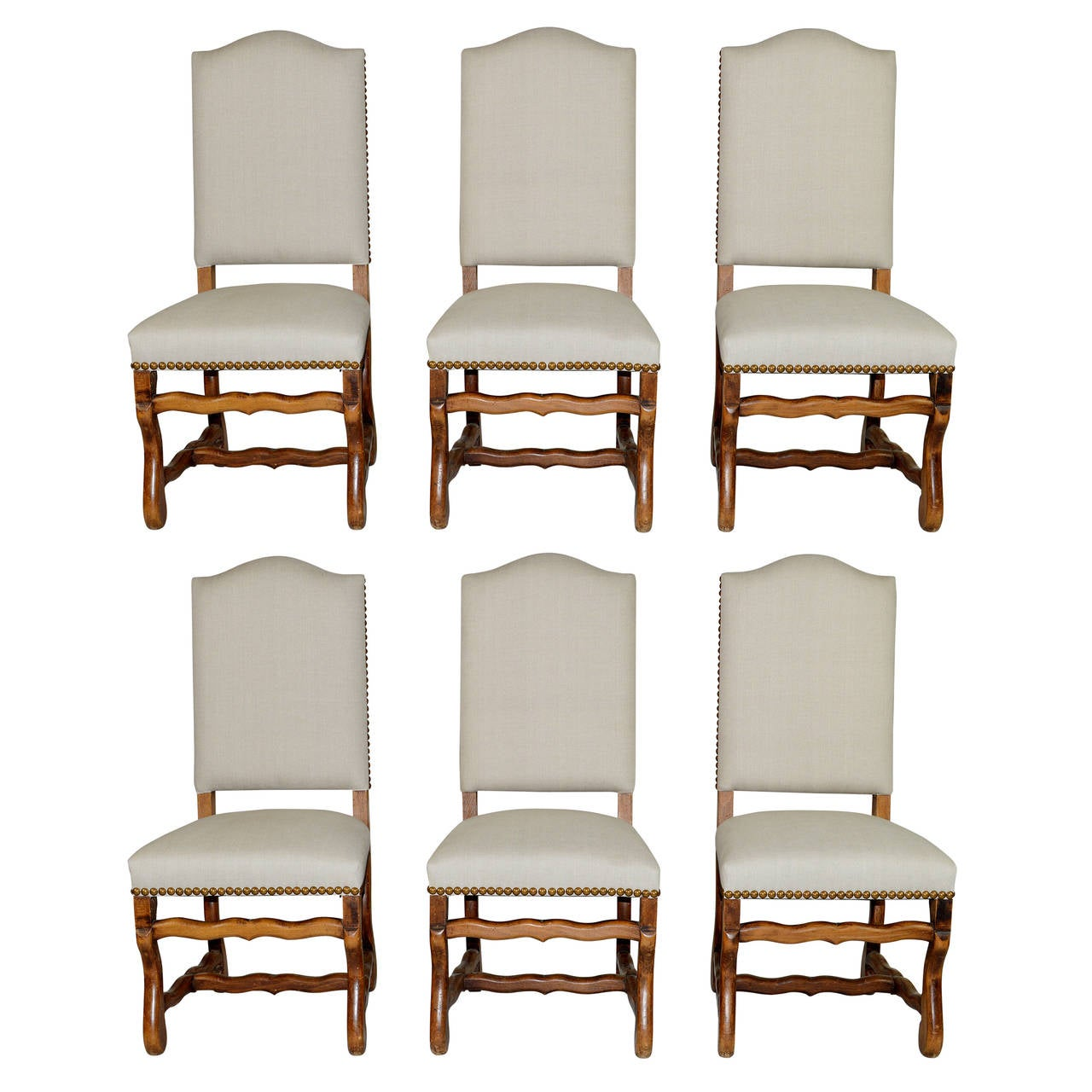 Set of six french louis xiv style dining chairs at 1stdibs for Dining room chairs set of 6