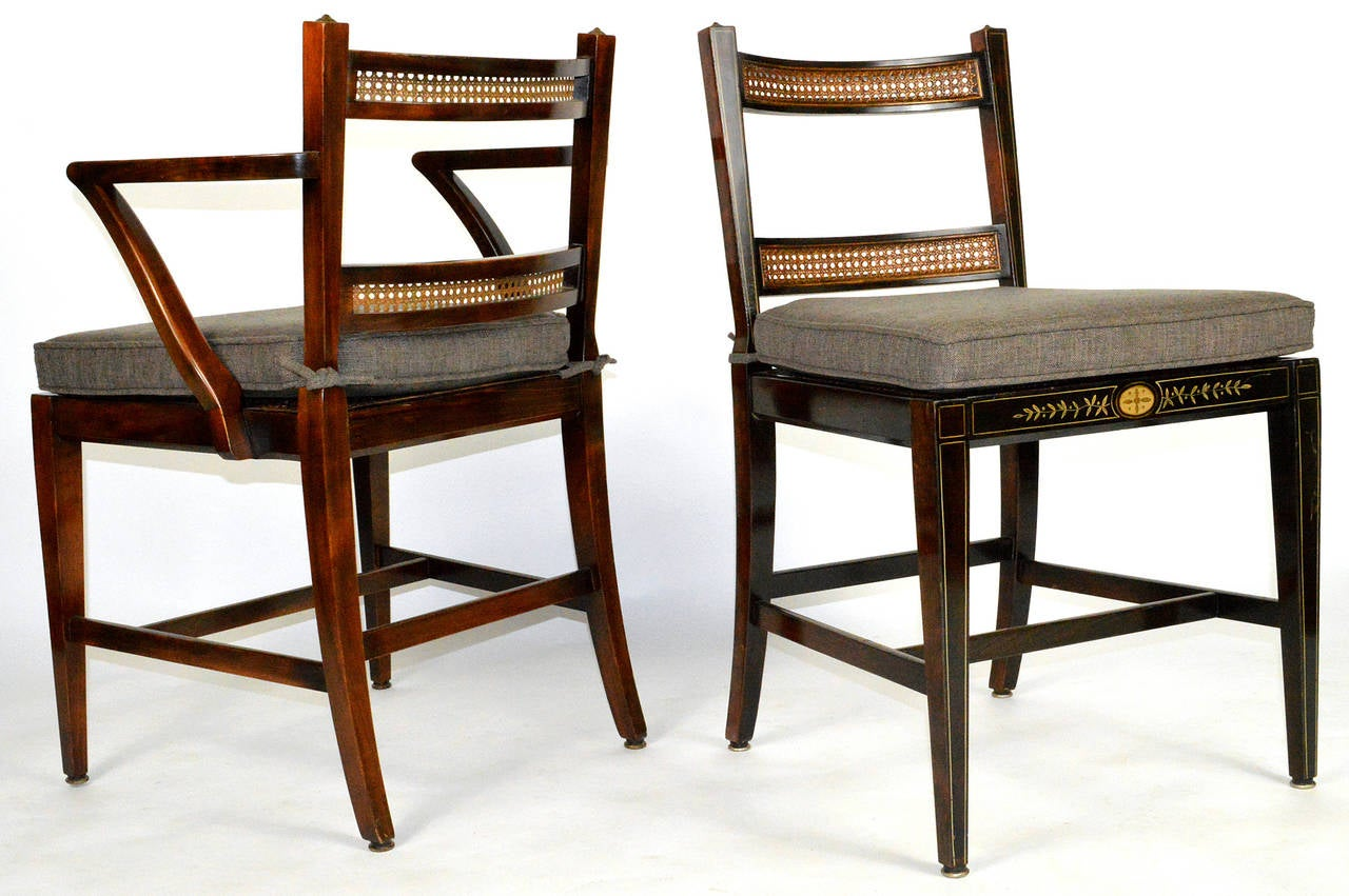 Set of Six Regency Style Dining Chairs 4