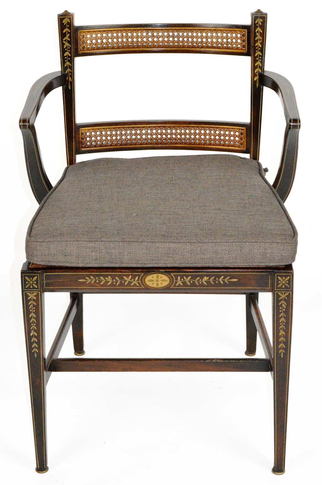 20th Century Set of Six Regency Style Dining Chairs For Sale