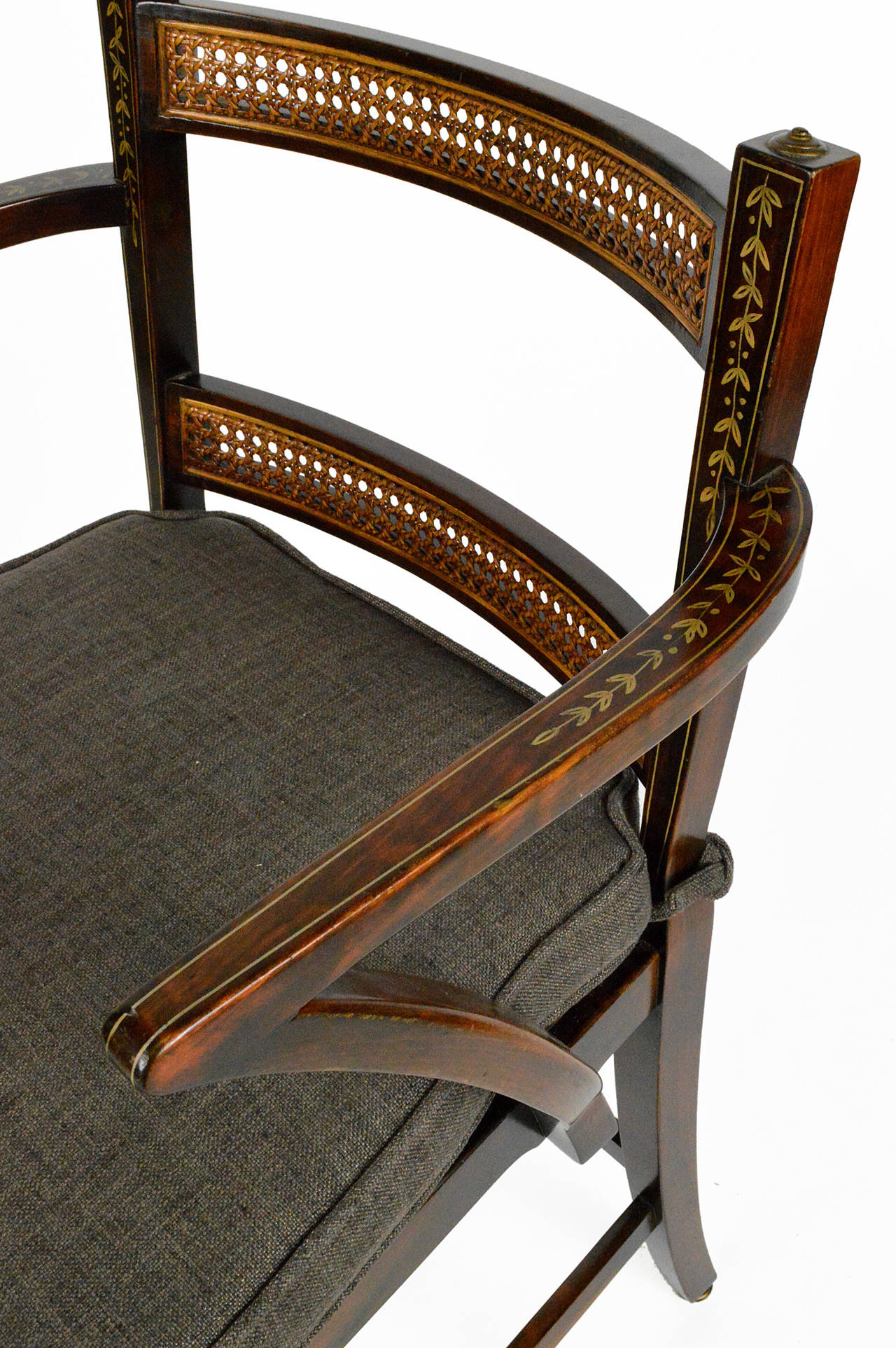 Upholstery Set of Six Regency Style Dining Chairs For Sale
