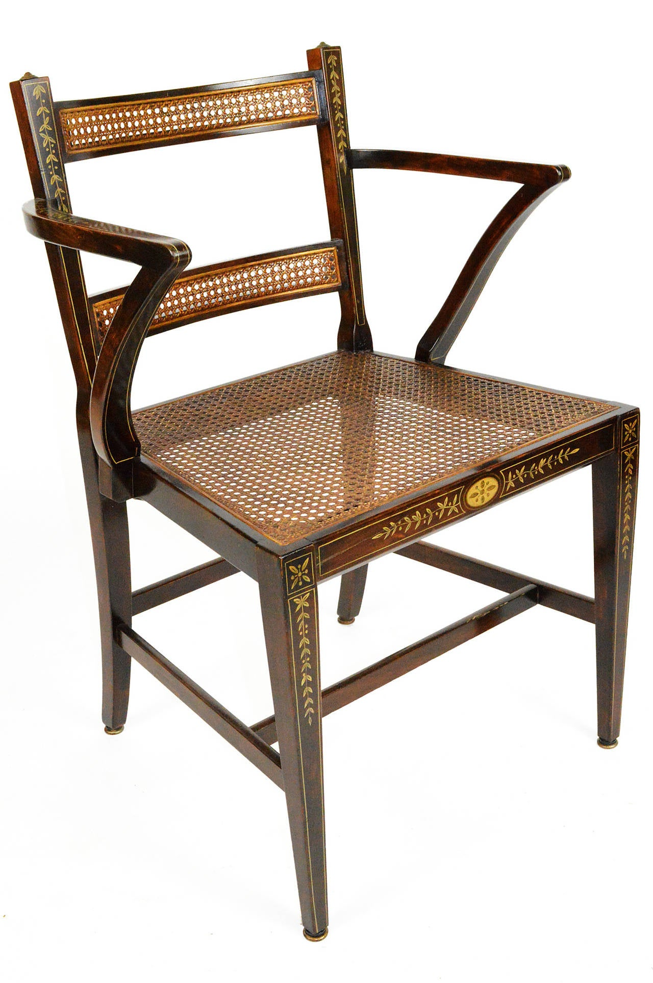 Set of Six Regency Style Dining Chairs 7