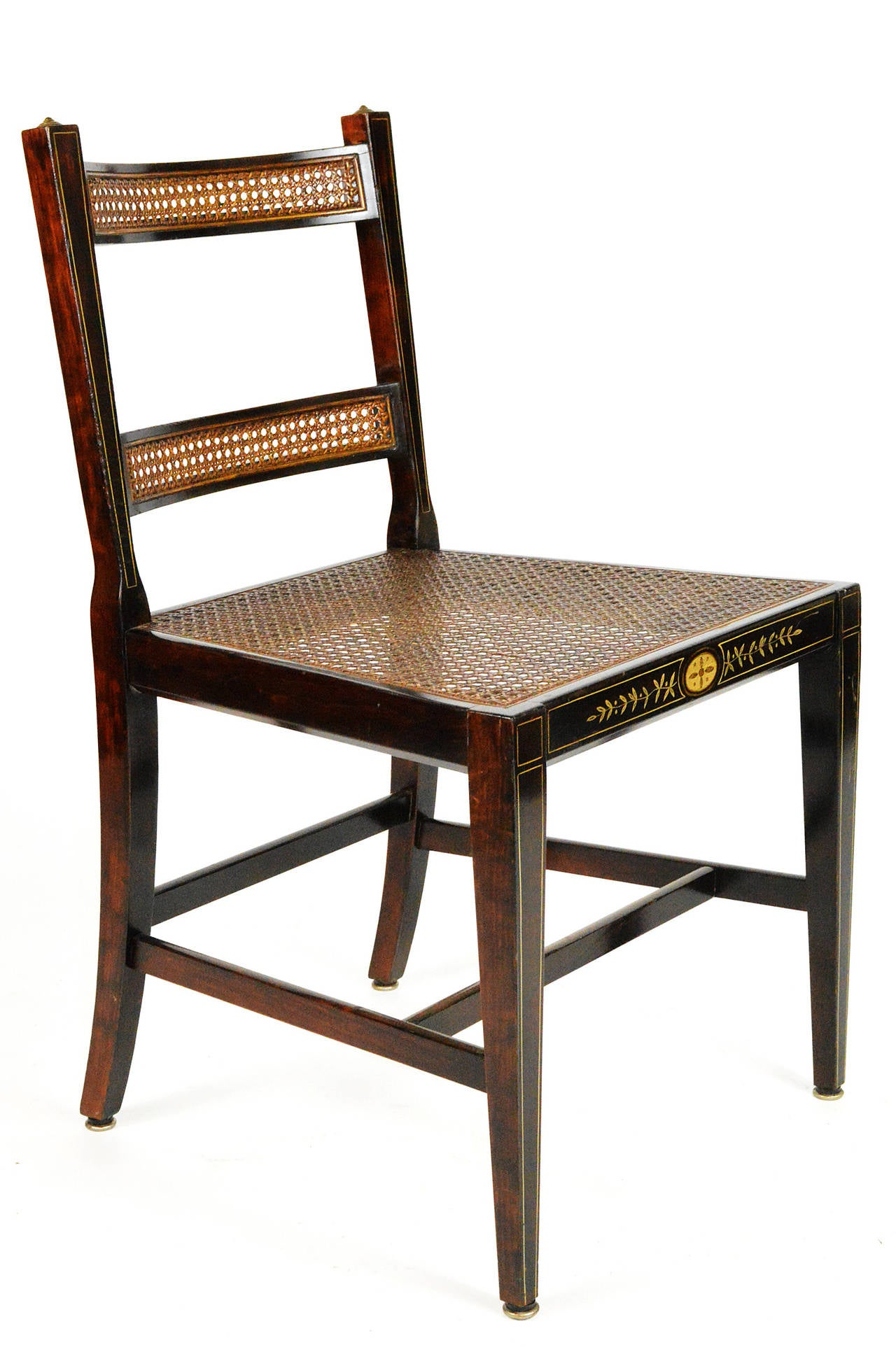 Set Of Six Regency Style Dining Chairs For Sale At 1stdibs