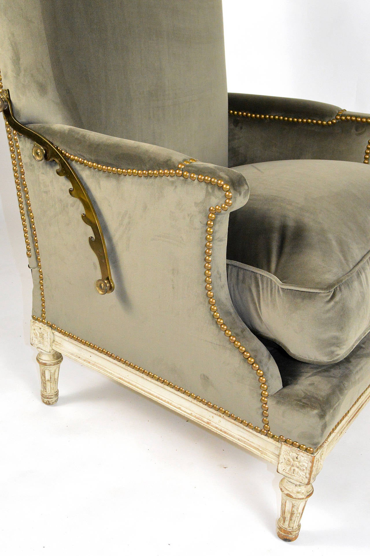 19th Century French Louis XVI Ratchet Reclinable Armchair 10