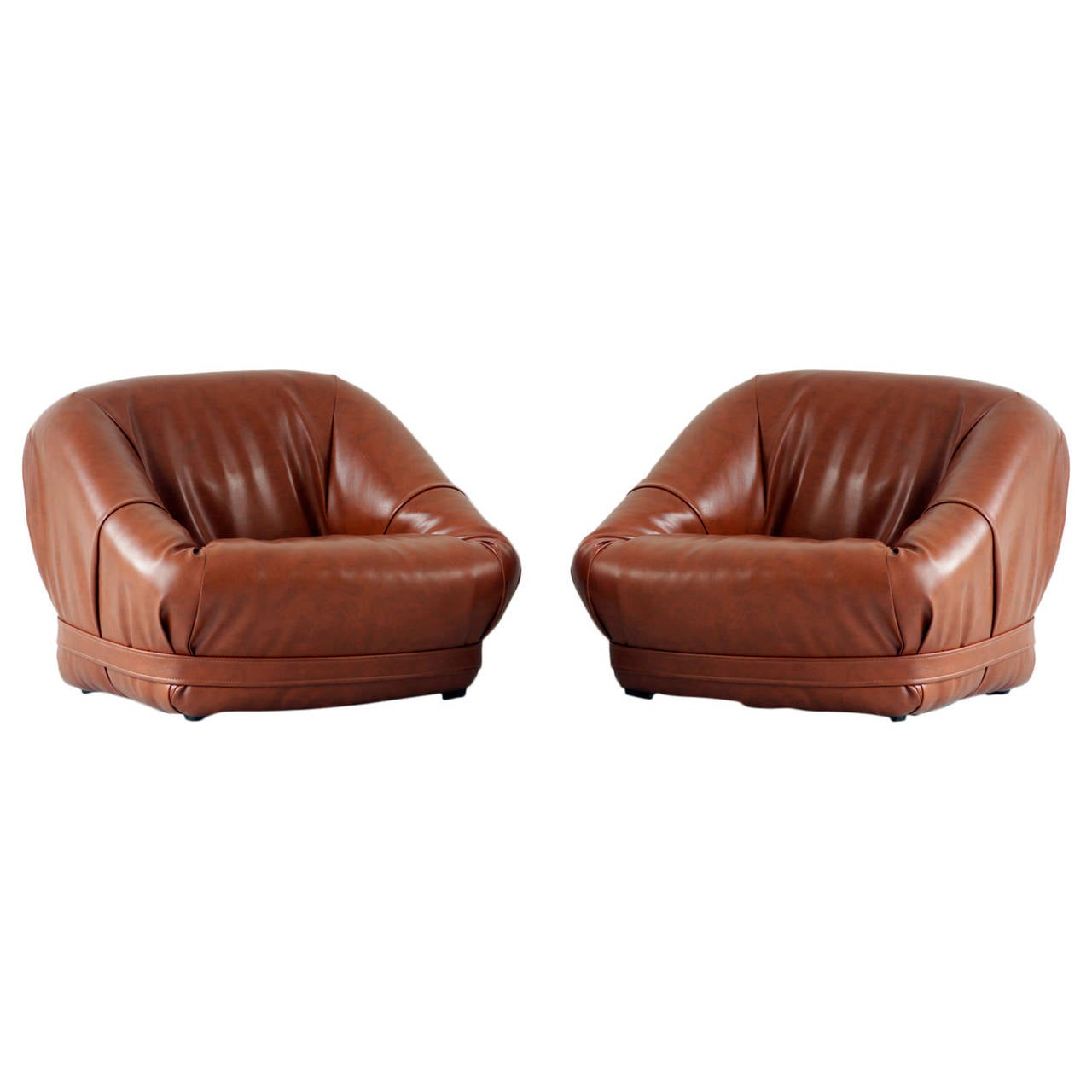 Set of Mid Century Lounge Chairs For Sale at 1stdibs