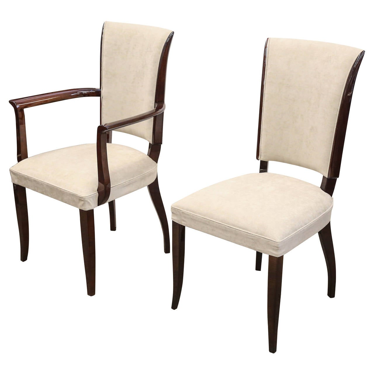 12 walnut dining room chairs at 1stdibs