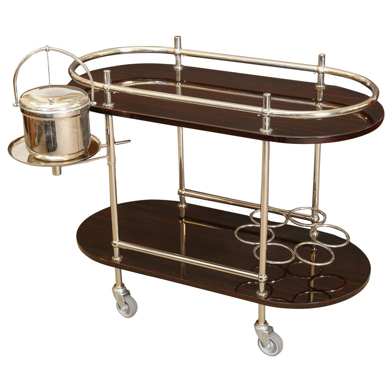 Art Deco Bar Or Serving Cart And Ice Bucket At 1stdibs