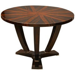 Round Walnut Side Table