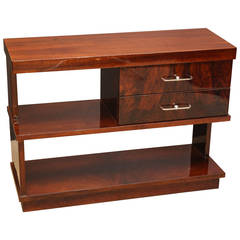 Art Deco French Walnut Consoles or Side Tables