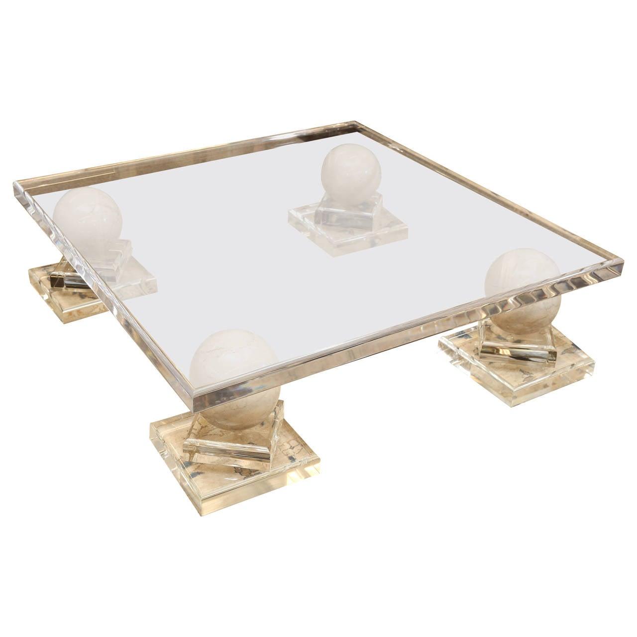 Plexiglass Coffee Table at 1stdibs