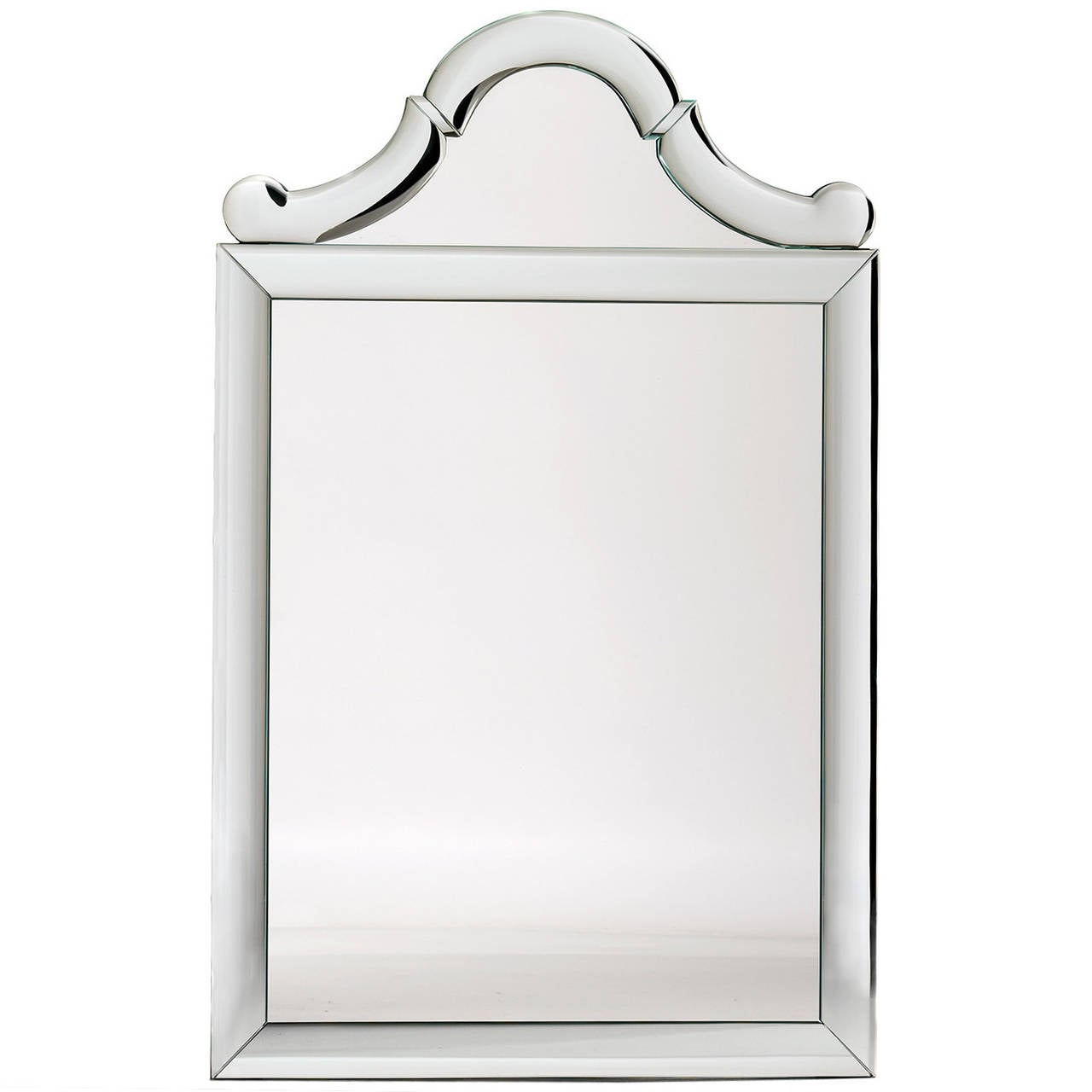 Queen Anne-Shaped-Top Bullnose Mirror