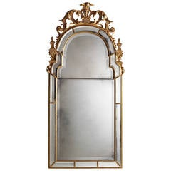 British Stately Homes Wakefield Mirror with Panels in Gold and Gold-Black Trim