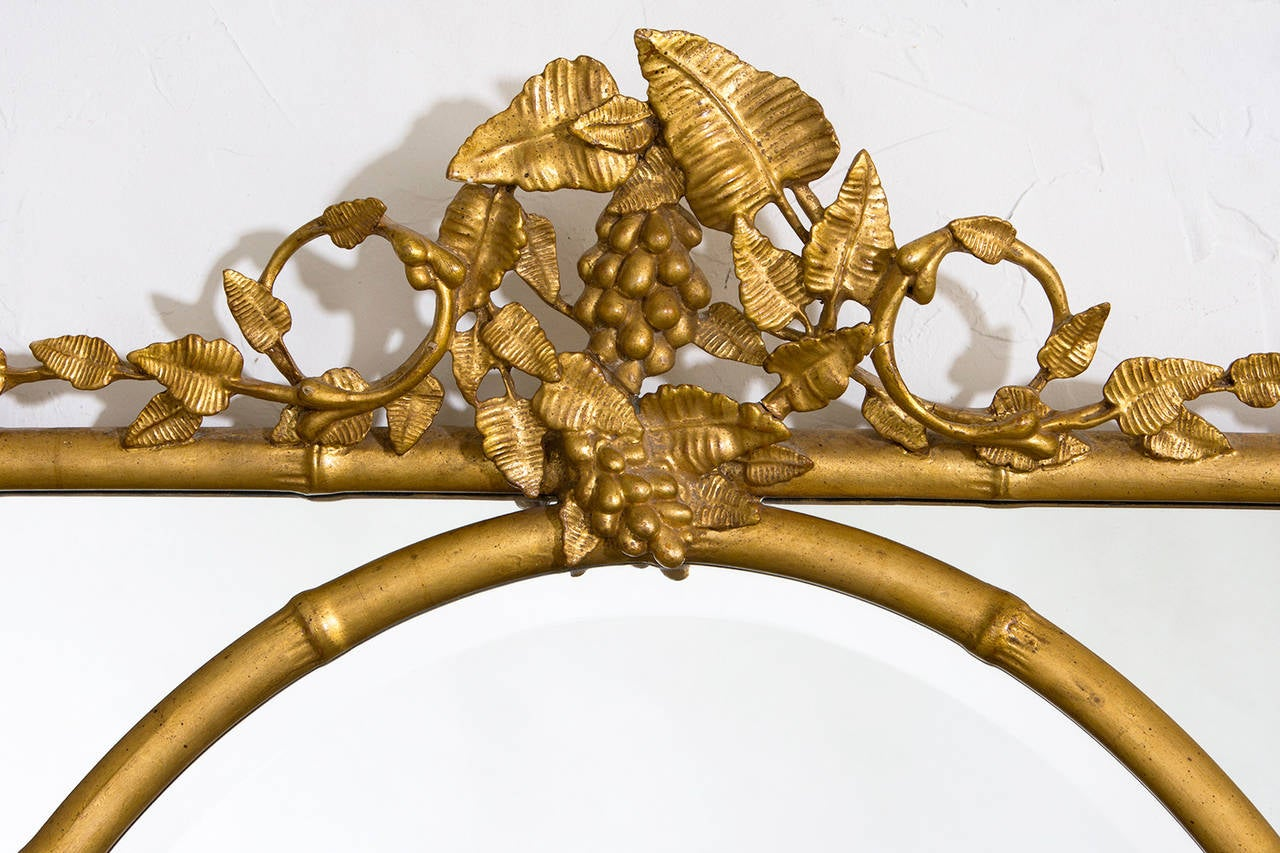 Gilt Bamboo with Oval Center Mirror 2