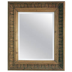 Irish Carved Pine Mirror with Bevel