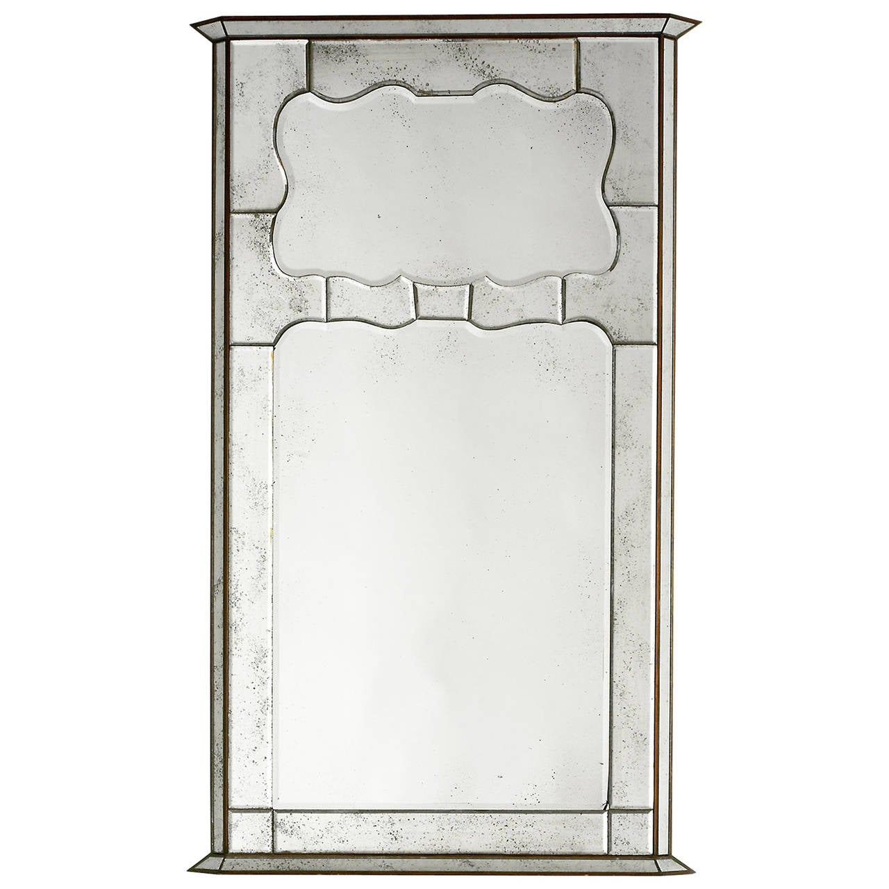Small midcentury trumeau style frame with inlaid mirror at for Mirror frame styles