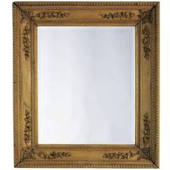 Carved Pine Frame with Beveled Mirror