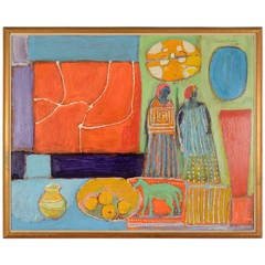 """Untitled"" Still Life with Figures by Humbert Howard"