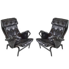 Pair of Pernilla Lounge Chairs by Bruno Mathsson for Dux