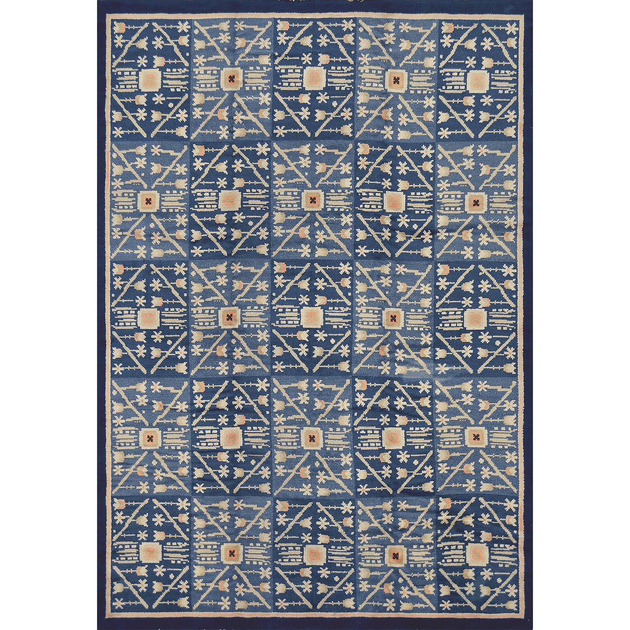 Mid 20th Century Modern Scandinavian Area Rug At 1stdibs: Mid-20th Century Swedish Deco Rug For Sale At 1stdibs