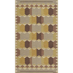 Mid-20th Century Swedish Rug Signed by Anna Greta Sjoquisten