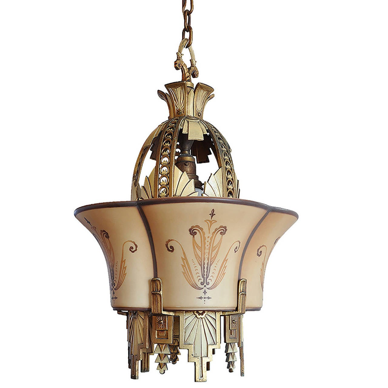 R williamson and co beardslee art deco chandelier at 1stdibs beardslee art deco chandelier 1 arubaitofo Image collections